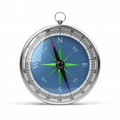 picture of longitude  - Compass in chrome housing - JPG