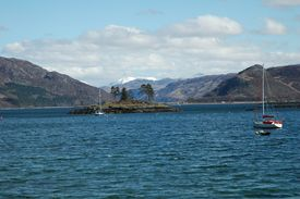 image of carron  - Loch Carron from Plockton. Highlands of Scotland. ** Note: Slight blurriness, best at smaller sizes - JPG