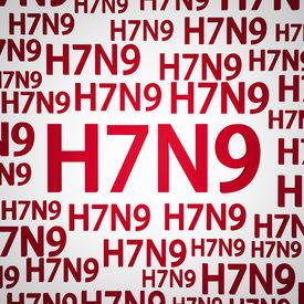picture of avian flu  - H7N9 flu virus concepts new flu virus outbreak in china - JPG