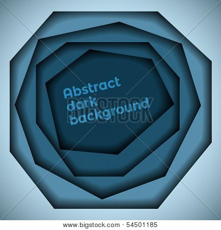 Abstract blue dark 3d hole background