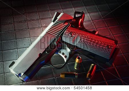 Red Handgun