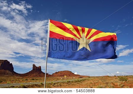 Arizona Flag On Wind