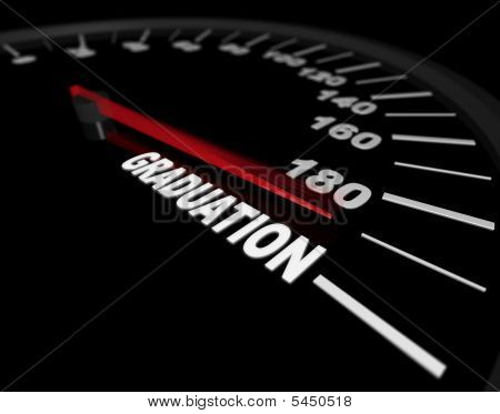 Speeding Toward Graduation - Speedometer