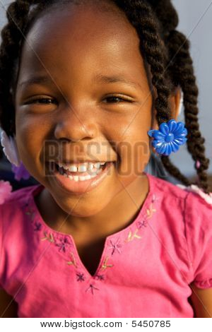 Adorable African American Girl