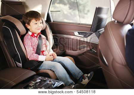 Luxury Baby Car Seat For Safety With Happy Kid