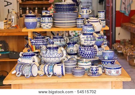 Sale Crockery In A Shop  In Dordrecht, Netherlands