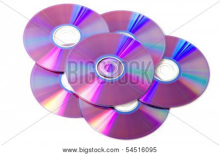 Stack of blank dvd discs