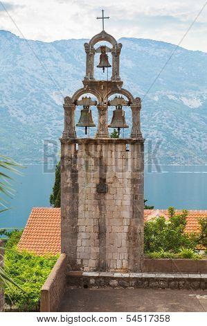 Bell Tower Of Orthodox Monastery Banja. Risan, Montenegro