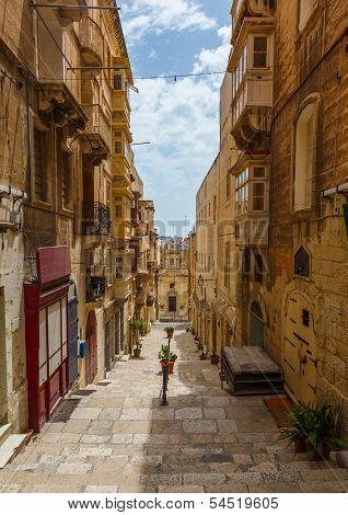 Maltese architecture in Valletta, Malta