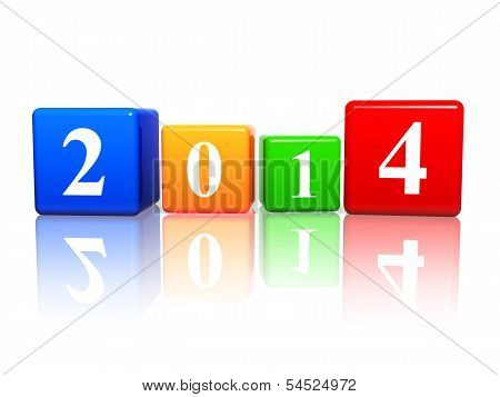 New Year 2014 In Color Cubes