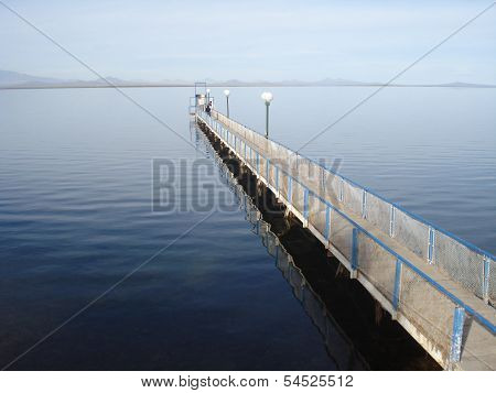 Wharf on lake