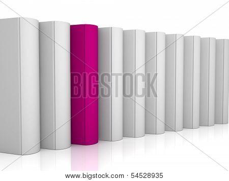 3D Red Color Unique Book