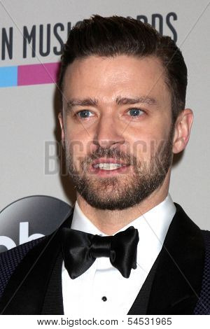 LOS ANGELES - NOV 24:  Justin Timberlake at the 2013 American Music Awards Press Room at Nokia Theater on November 24, 2013 in Los Angeles, CA