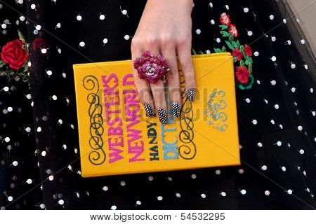 LOS ANGELES - NOV 24: Close-up of Katy Perry's book at the 2013 American Music Awards Arrivals at Nokia Theater on November 24, 2013 in Los Angeles, CA