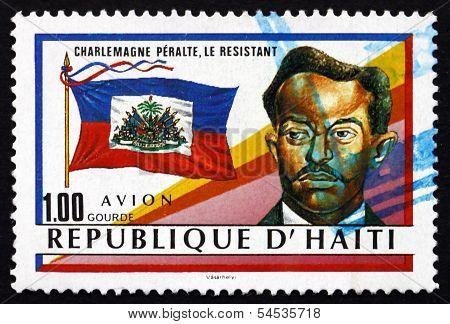 Postage Stamp Haiti 1988 Charlemagne Peralte, Haitian Hero