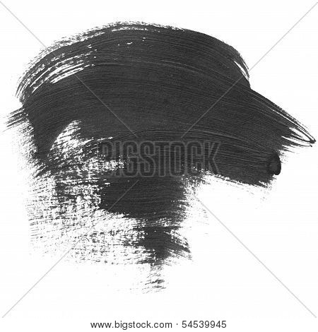 High Detailed Vector Dab Of Paint Isolated On White Background