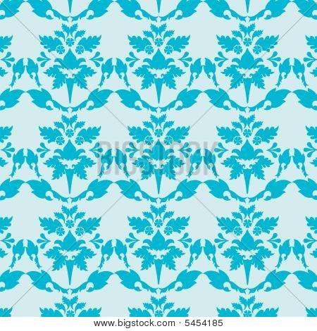 Blue Damask Wallpaper