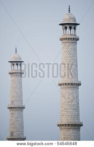 Two Minaret Of The Taj Mahal