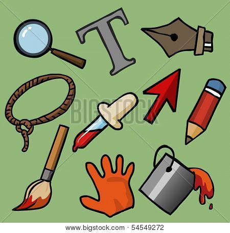 Software tool set. Vector illustration
