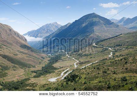 Panoramic Mountain View Of Pyrenees, Andorra
