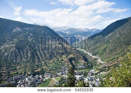 View Of The Andorra La Vella, Andorra