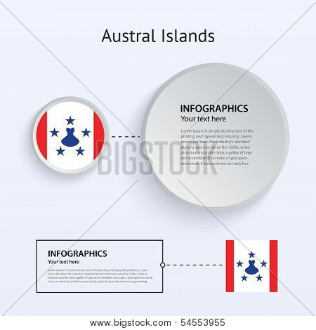 Austral Islands Country Set of Banners.
