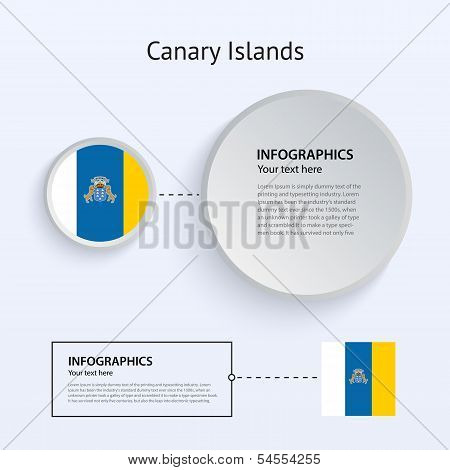 Canary Islands Country Set of Banners.