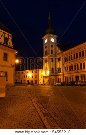 Loket Main Square, Little Town At Night