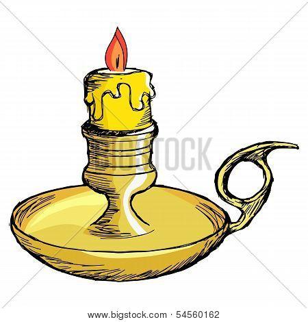 Candlestick Mantel
