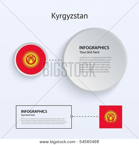Kyrgyzstan Country Set of Banners.