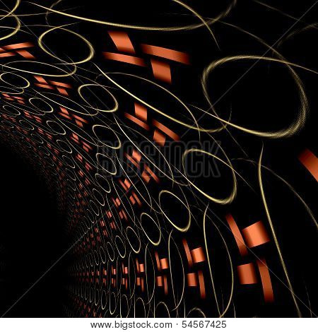 Fractal Abstraction Tunel, Digital Artwork For Creative Graphic
