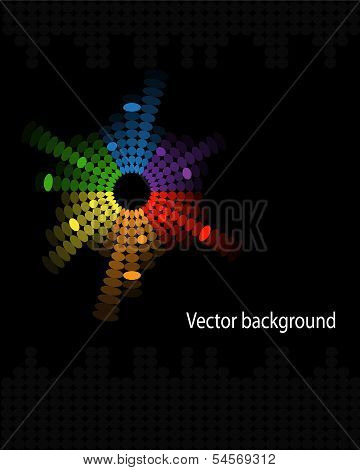 abstract music volume equalizer on black background