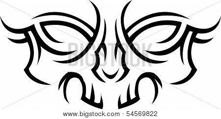 Skull Gost tattoo
