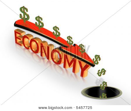 Economic Crisis Recession 3D Graphic