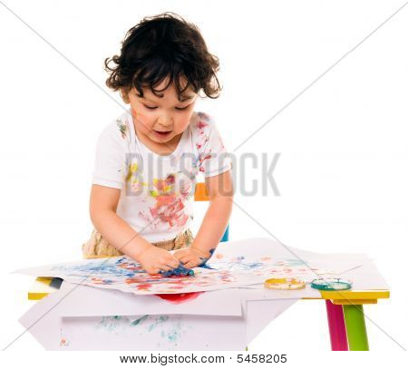 Little Boy Painting