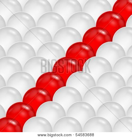 Abstract Background Of Gray And Red Spheres.abstraction Of The Balls.vector