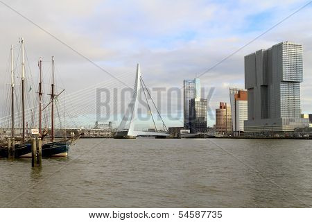 Erasmus Bridge And The Rotterdam
