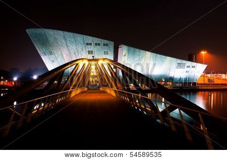 Nemo Museum in Amsterdam by Night