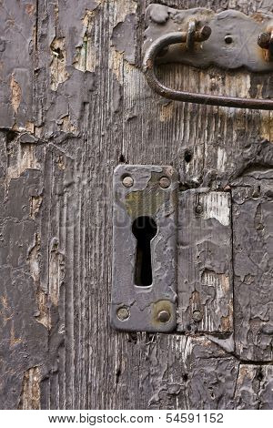 Keyhole Of Old Doorlock 17