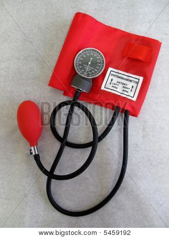 Red Blood Pressure Cuff