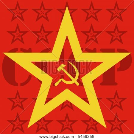 USSR hammer and sickle inside star
