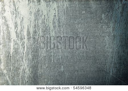Paint Streaks On A Grunge Canvas