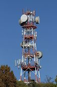 foto of wiretap  - repeaters antennas for mobile communication and mobile calls - JPG