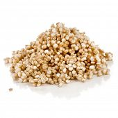 picture of quinoa  - quinoa seed grain close up macro shot isolated on a white background  - JPG