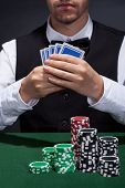 Poker Player On A Winning Streak