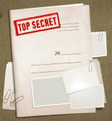 foto of top-secret  - dorsal view of military top secret folder with stamp - JPG