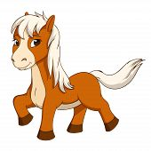 Cartoon Cute Little Horse