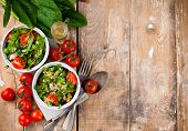 stock photo of vegan  - Dietary food background - JPG