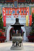 stock photo of lantau island  - Po Lin Monastery on Lantau Island Hong Kong - JPG