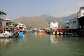 stock photo of lantau island  - Tai O fishing village on Lantau Island Hong Kong China - JPG